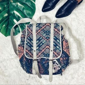Boho Tribal Aztec Print Cloth Backpack